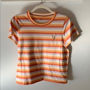 Madewell striped flower tee medium